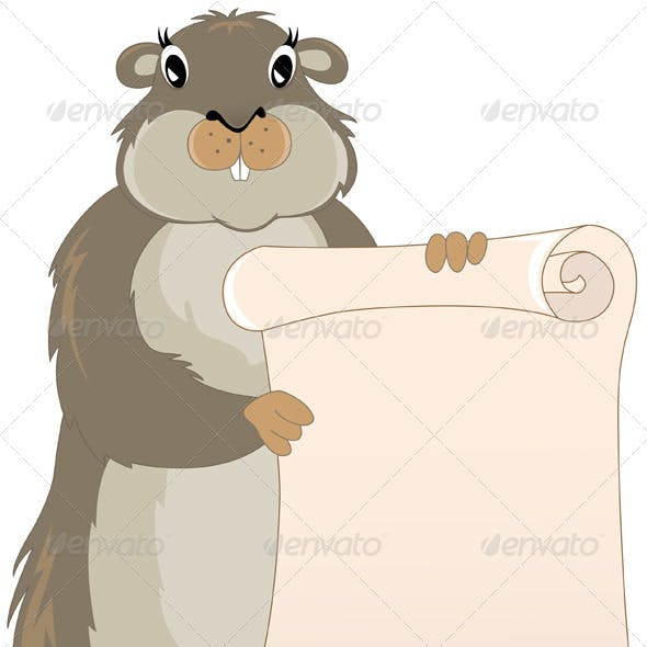 Groundhog with Scroll