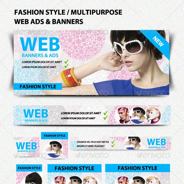 Fashion Style/Multipurpose Web Ads & Banners