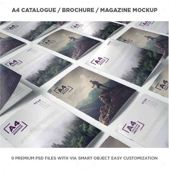 A4 Brochure / Catalogue / Magazine Mockup