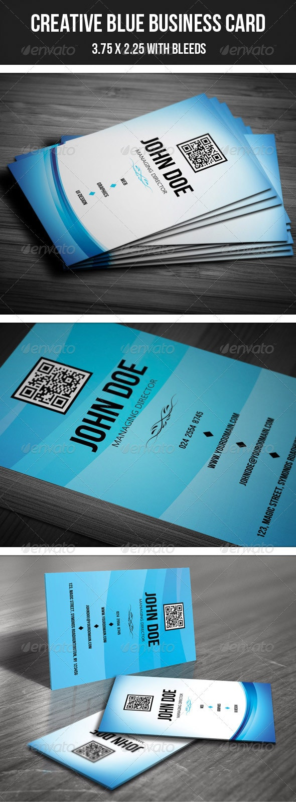 Creative Blue Business Card - 34 - Creative Business Cards