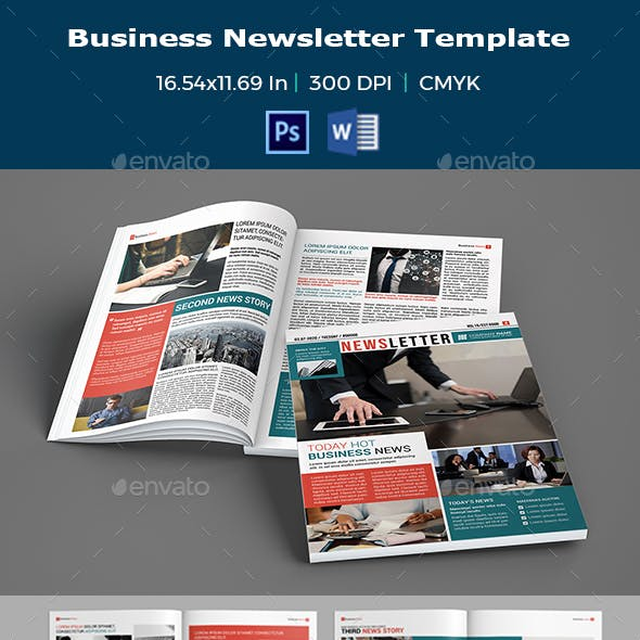 Business Newsletter Template V04