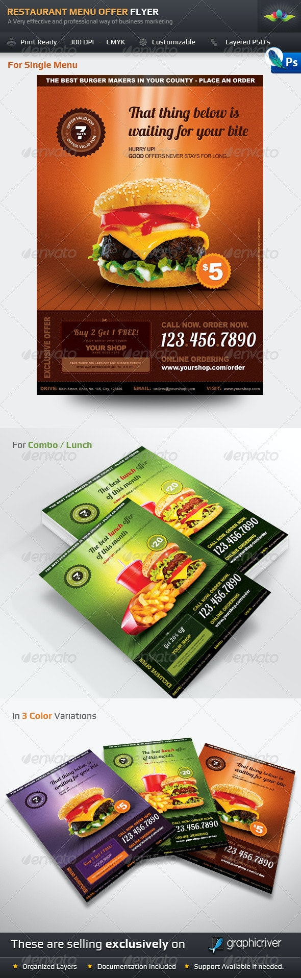 Restaurant Menu Offer Flyer - Restaurant Flyers