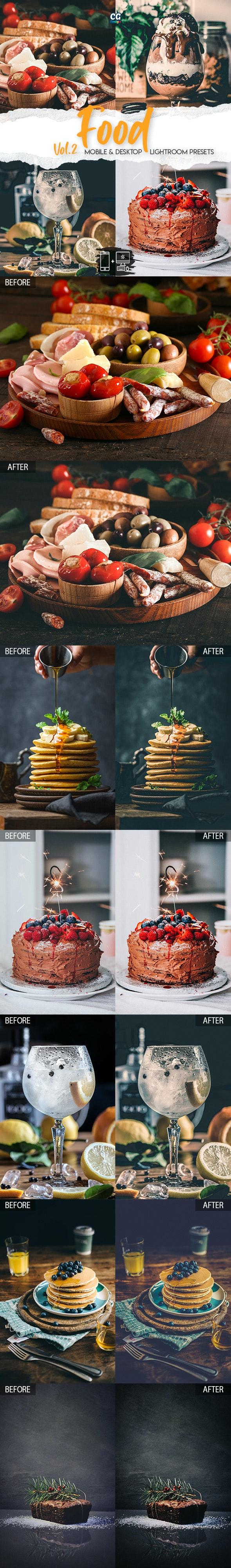 Food Lightroom Presets Vol. 2 - 15 Premium Lightroom Presets - Lightroom Presets Add-ons