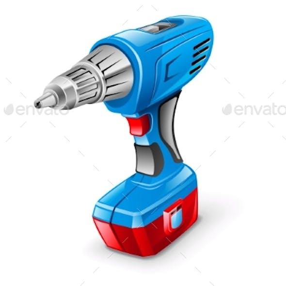 Drill Vector Icon Illustration
