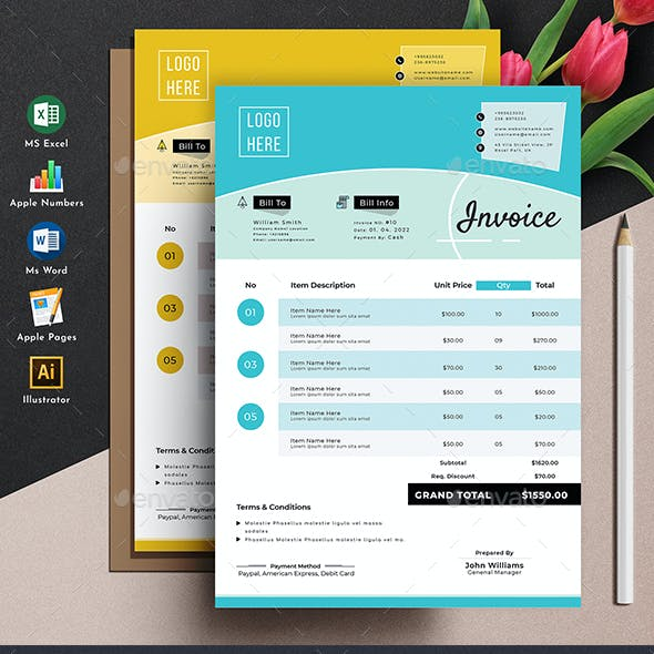 Invoice Template Word Excel Apple Numbers