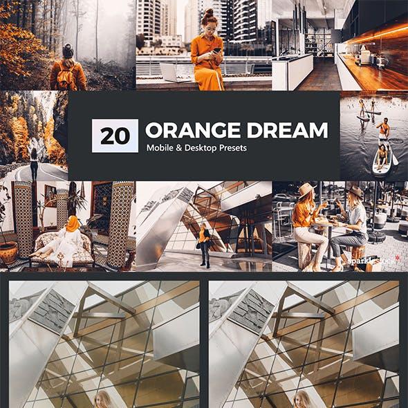 20 Orange Dream Lightroom Presets and LUTs