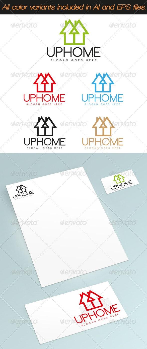 UpHome Logo - Buildings Logo Templates