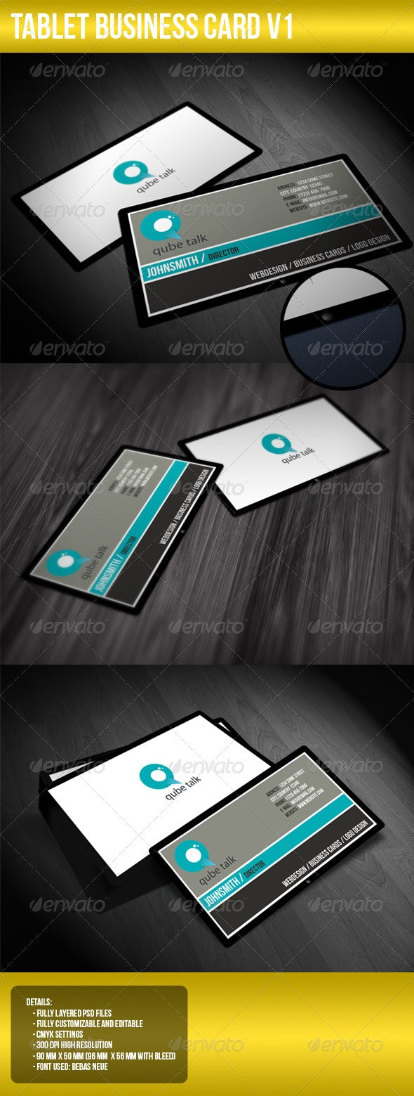 Tablet Business Card V1 - Corporate Business Cards