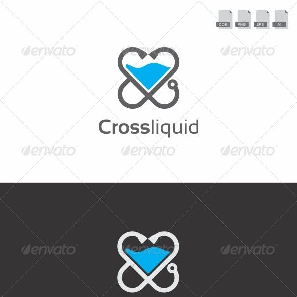 Cross Liquid - Medical Logo