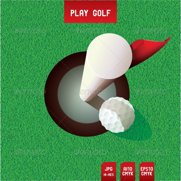 Golf Putt - Sports/Activity Conceptual