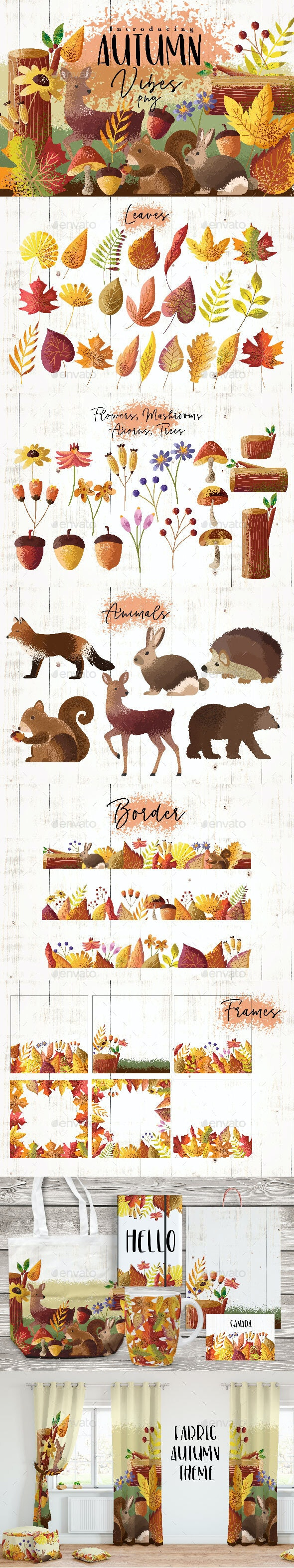 Autumn Vibes - Animals Illustrations