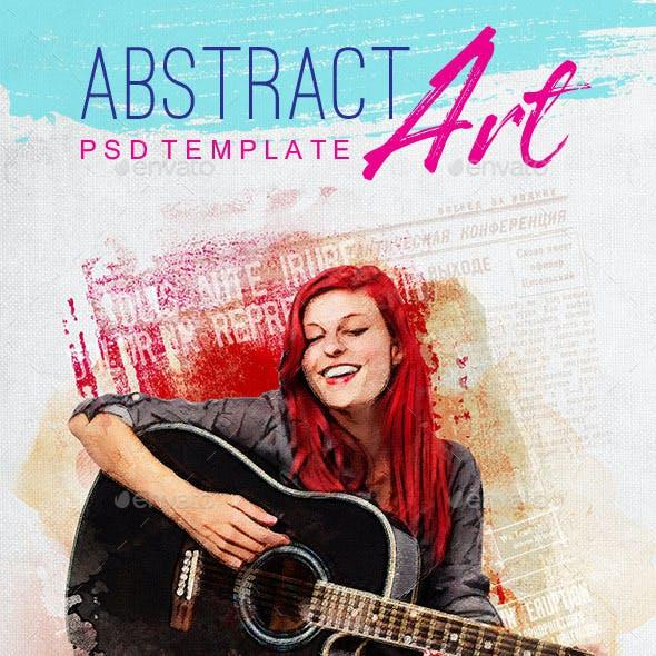 Abstract Art PSD Template