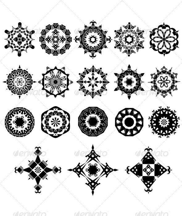 Set of design elements - Decorative Symbols Decorative