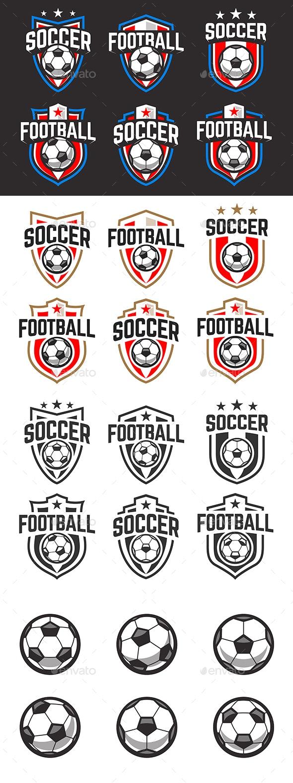 Soccer Emblems Vector Set - Sports/Activity Conceptual