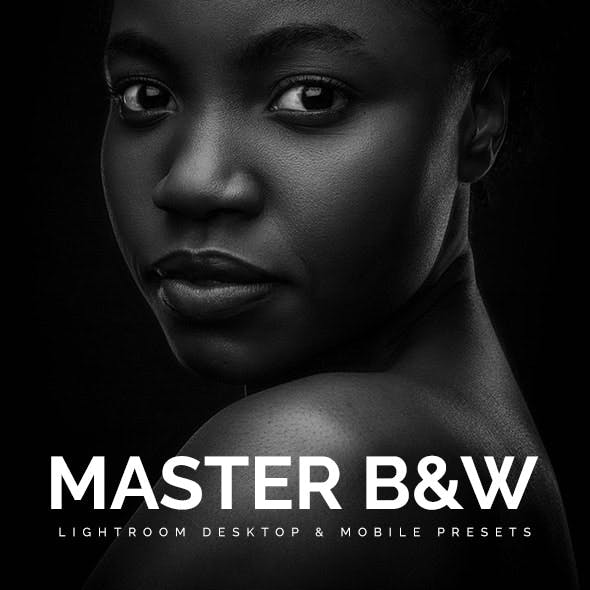 40 Master Black And White Lightroom Desktop & Mobile Presets