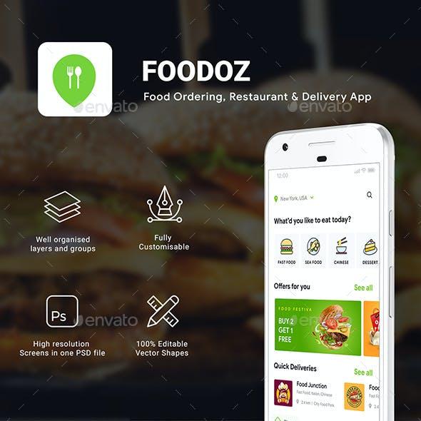 3 in 1 Food Ordering, Restaurant App & Delivery App UI Kit