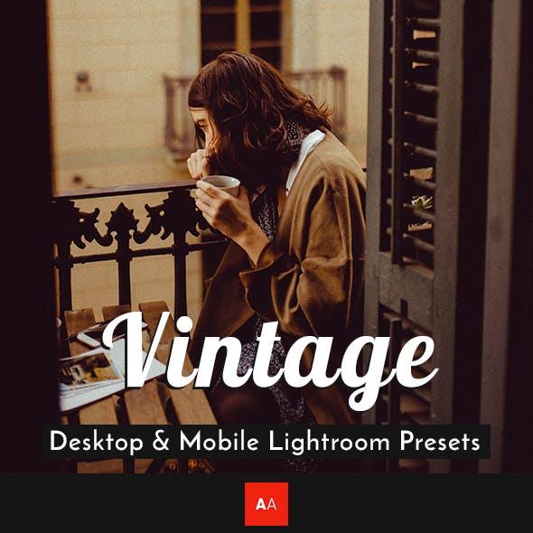 Vintage Lightroom Presets - Desktop & Mobile