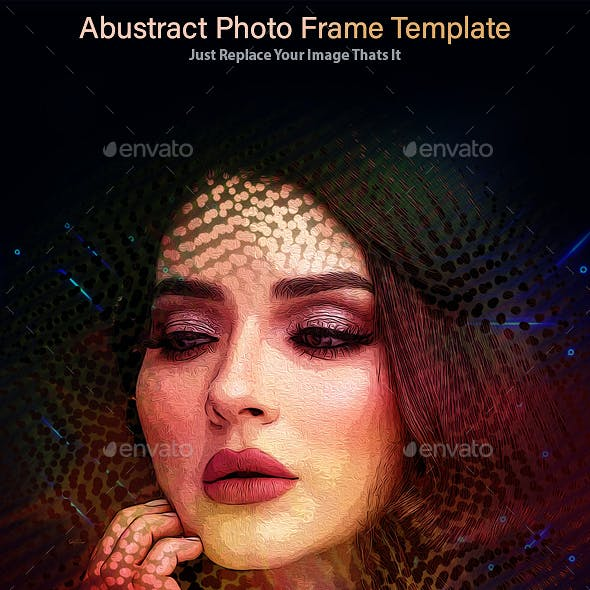 Abustract Photo Frame Template