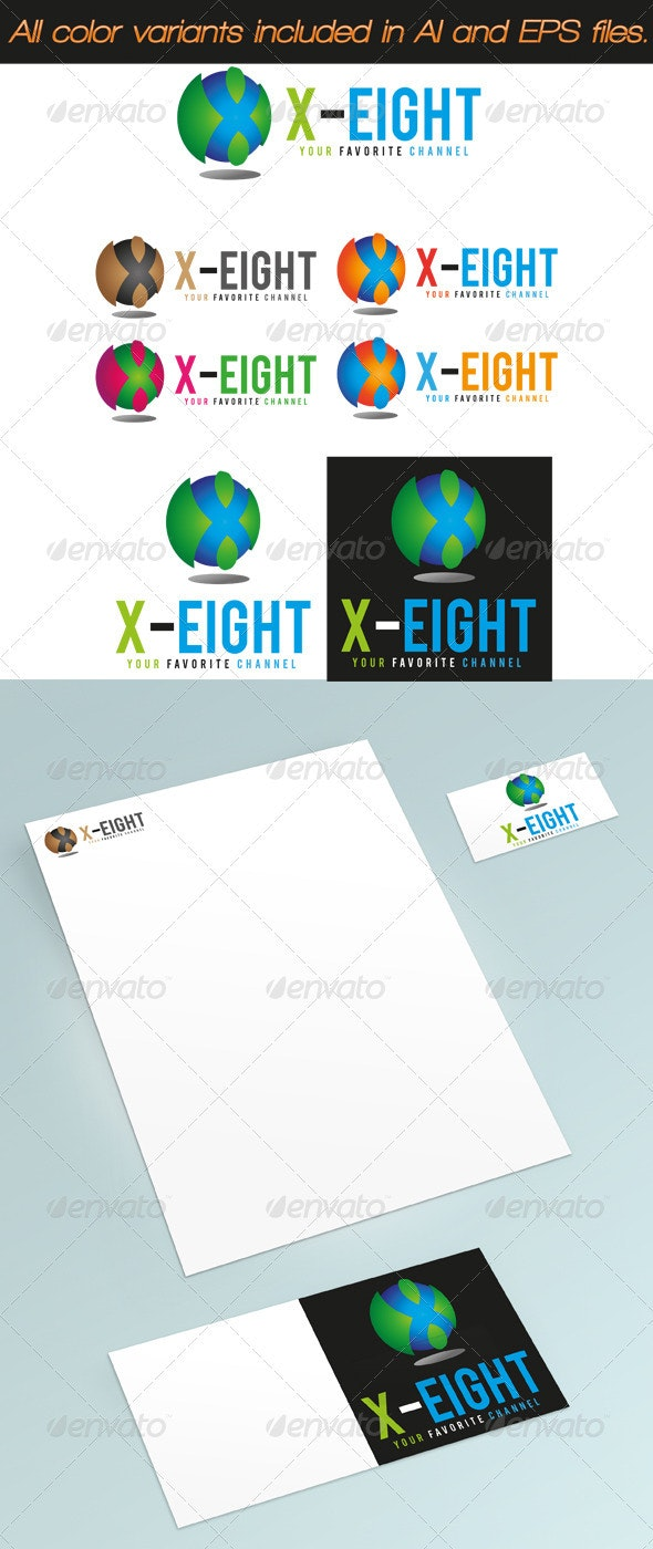 X-Eight Logo - Numbers Logo Templates