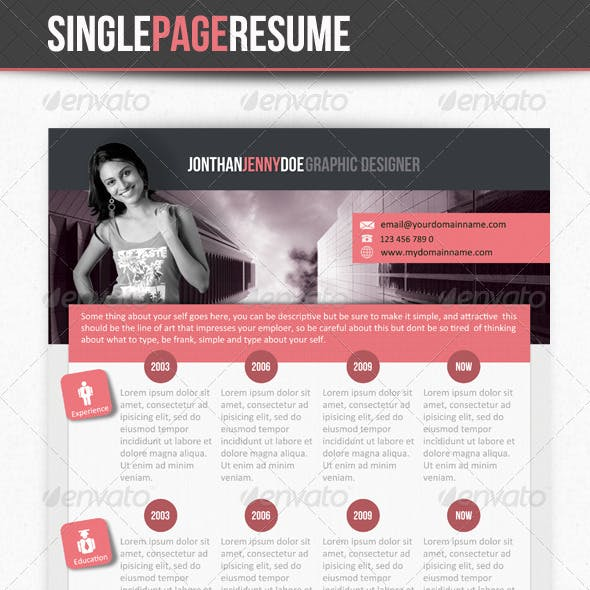 Smart Clean Single Page Resume