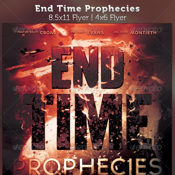 End Time Prophecies Flyer Template