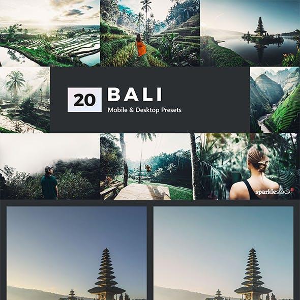 20 Bali Lightroom Presets & LUTs