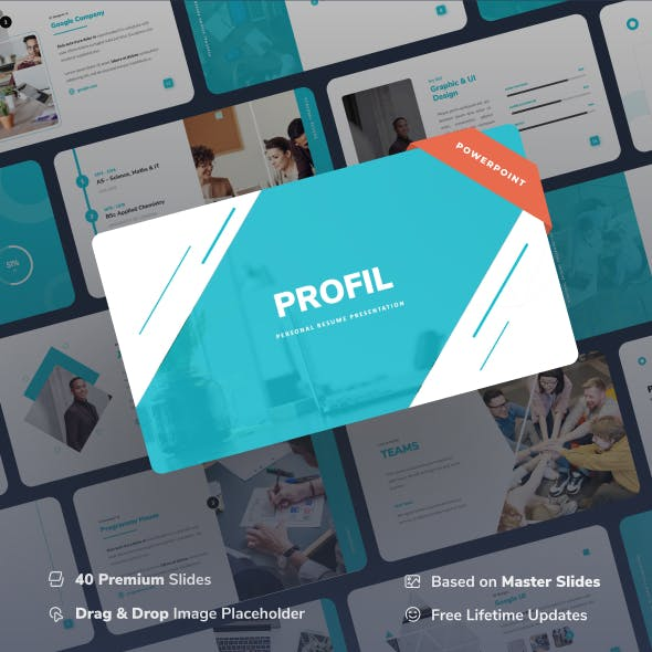 Profil - Personal Resume Power Point Presentation
