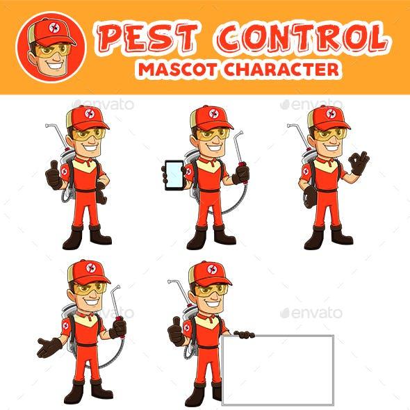 Pest Control Mascot Character