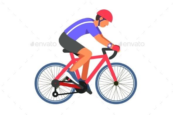 Man Cyclist on Road - Sports/Activity Conceptual