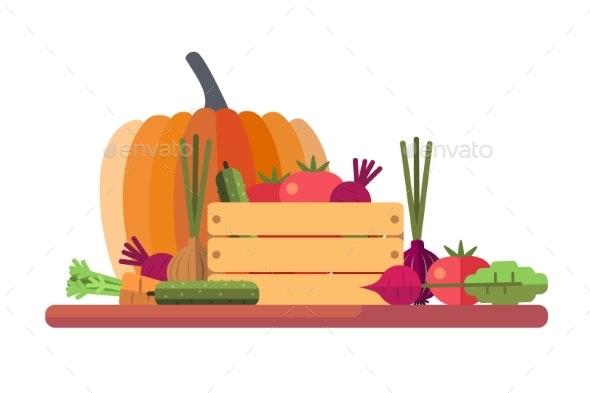 Fresh Seasonal Vegetables - Food Objects