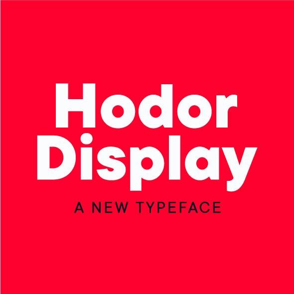 Hodor Display Sans Font
