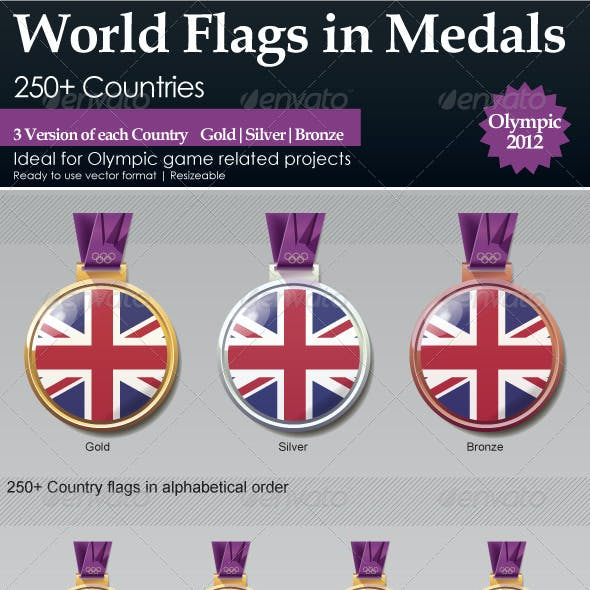 World Flags in Medals