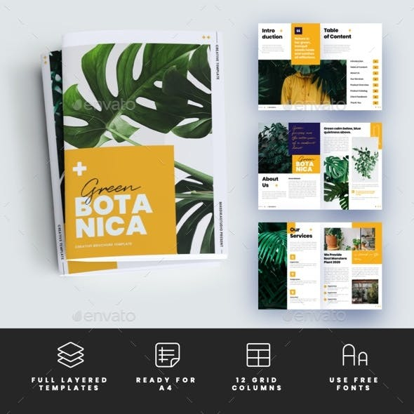 Green Botanica - Creative Brochure Template