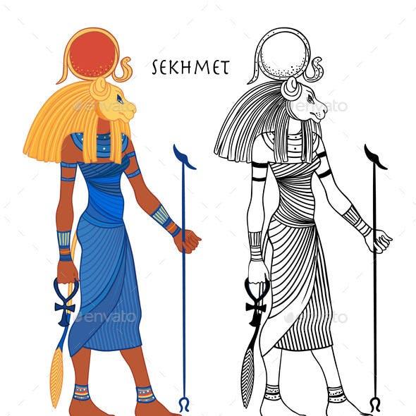 Sekhmet the Goddess of the Sun Fire Plagues