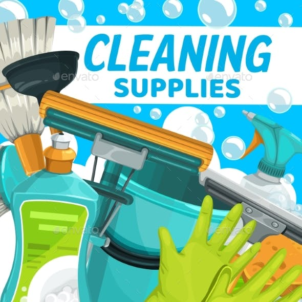 Cleaning Supplies, Household Clean Home Equipment