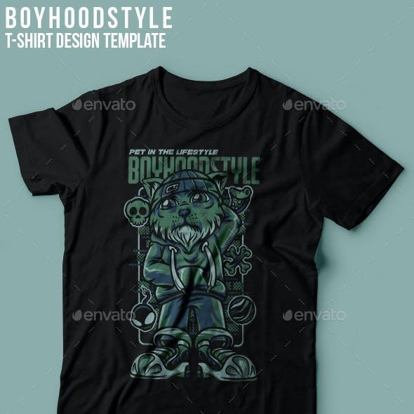 Boyhood Style T-Shirt Design