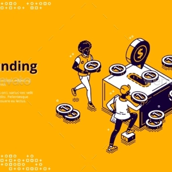 Vector Banner of Crowdfunding