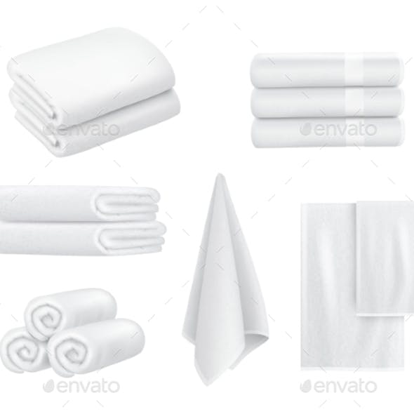 Towel Stack. Luxury Hotel Textile Items