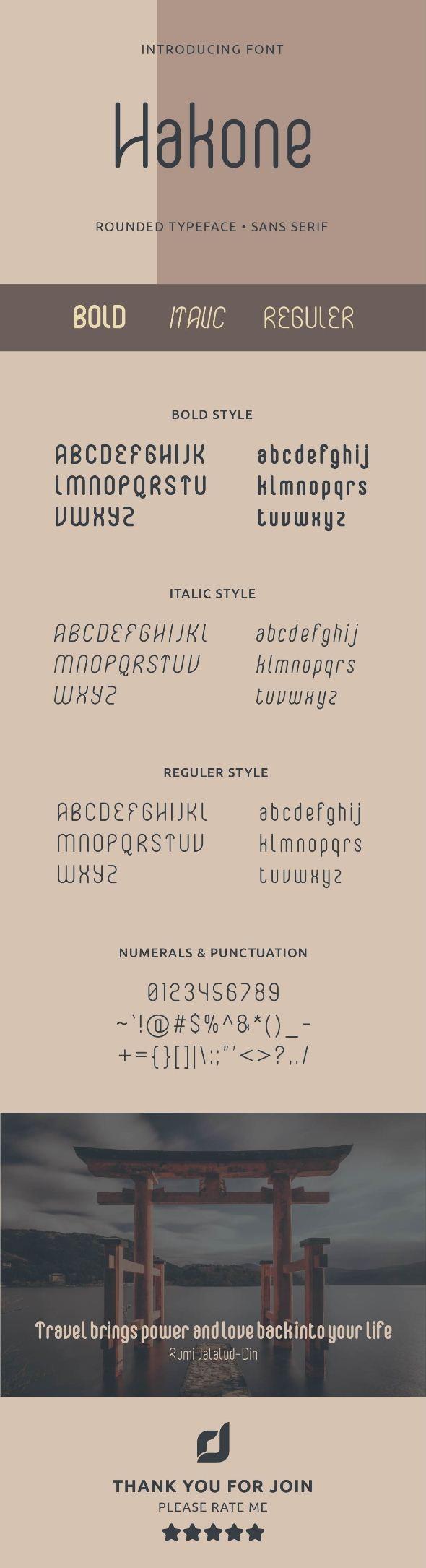 Hakone Sans Serif - Condensed Sans-Serif