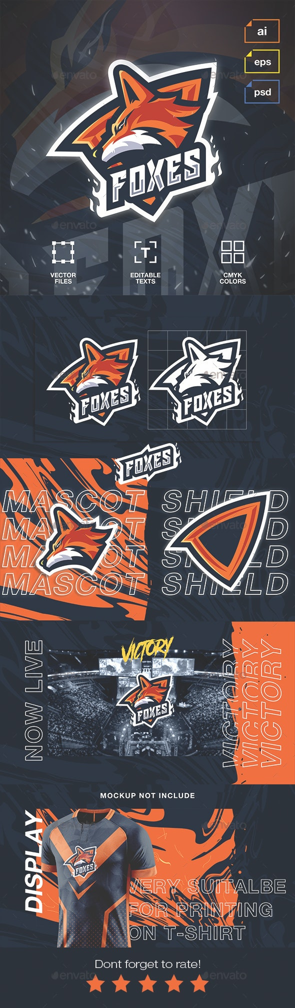 Esport Logo Foxes - Sports Logo Templates
