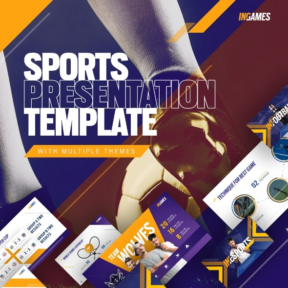 In Games Creative Animated Sport & Games Event PowerPoint Presentation Template - Creative PowerPoint Templates
