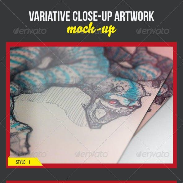 Variative Close-Up Artwork Mock-Ups