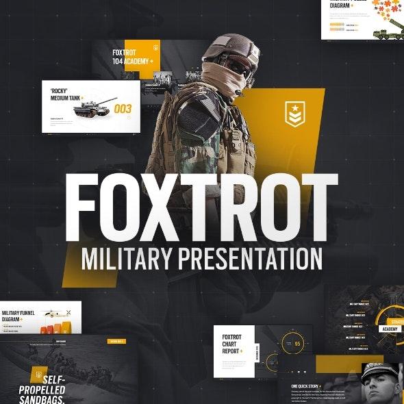 Foxtrot Military PowerPoint Presentation Template - PowerPoint Templates Presentation Templates