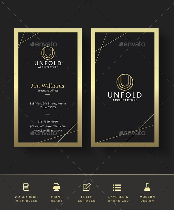 Gold Business Card - Creative Business Cards