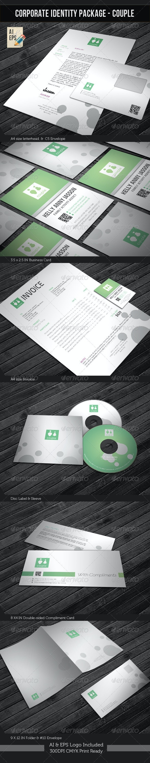 Corporate Identity Package - Couple - Stationery Print Templates