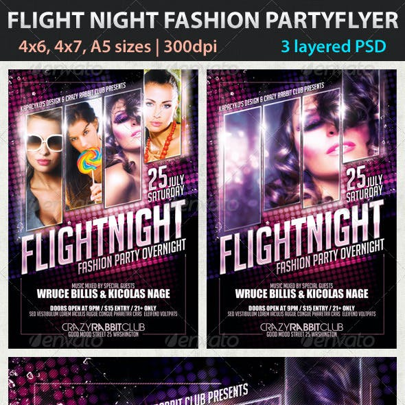 Flight Night Fashion Party Flyer