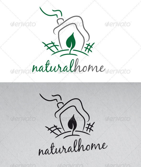 Natural Home Logo - Nature Logo Templates