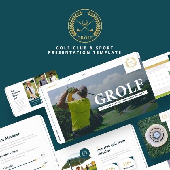 GROLF - Golf Club & Sport Powerpoint Template