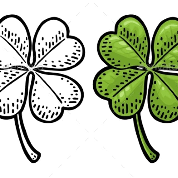 Good Luck Four Leaf Clover