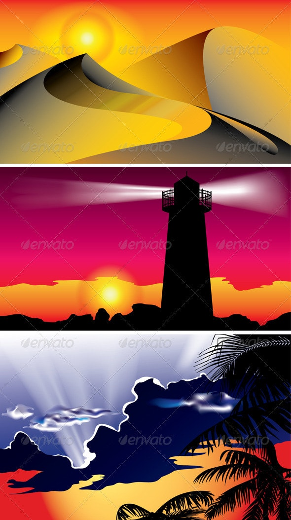 Lighthouse on the Coast - Landscapes Nature